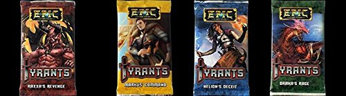 Epic Card Game: Tyrants complete set of all four mini expansion (Draka's, Markus, Raxxa's, Helion's )