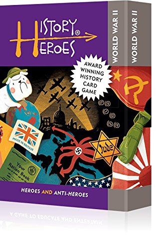 History Heroes: WORLD WAR TWO, family card game about the people who shaped World War 2