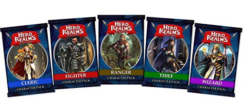 Hero Realms Character Pack set (1 x Wizard, 1 x Cleric, 1 x Thief, 1 x Ranger and 1 x Fighter)