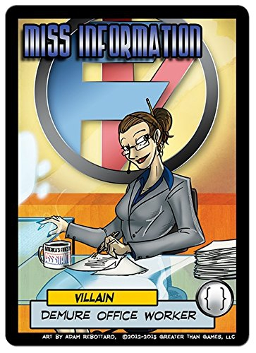 Sentinels of The Multiverse Miss Information Card Game
