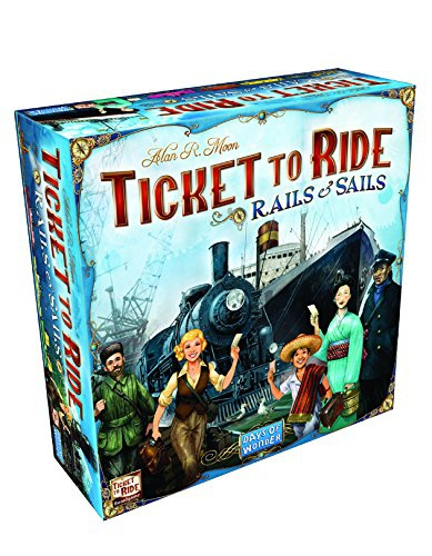 """Days of Wonder DOW720026 """"Ticket to Ride Rails and Sails"""" Game"""