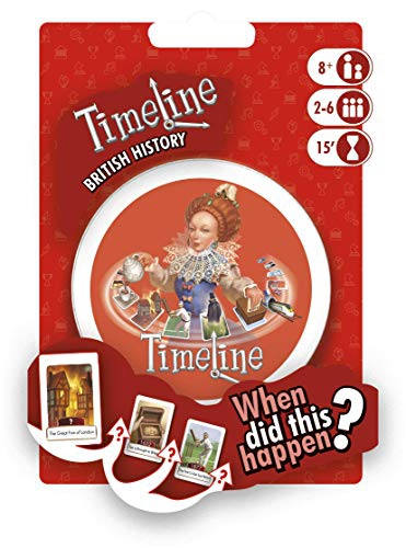 Asmodee ASMTLUKMC01EN Timeline British History-My Country Blister, Mixed Colours