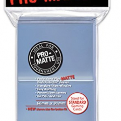 Ultra Pro 84731 Standard Pro Matte Card Sleeves, Clear