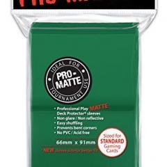 100 Ultra Pro Deck Protector Sleeves Pro-Matte Green - Standard Mat