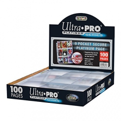 "Ultra Pro 84732""100 Pages Secure Platinum 9 Pocket Pages 3 Hole Album"