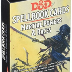 Dungeons And Dragons - Spellbook Cards - Martial Powers & Races