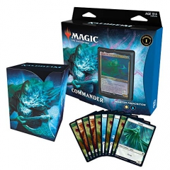 Magic: The Gathering Kaldheim Commander, Phantom Premonition (100 Card Ready-to-Play Deck) White-Blue