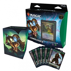 Magic: The Gathering Kaldheim Commander Deck – Elven Empire Empire-100 Card Ready-to-Play, Black-Green