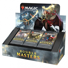 Magic The Gathering Double Masters Booster Box Magic The Gathering TCG - 24 Packs + Double Box Topper C82630000