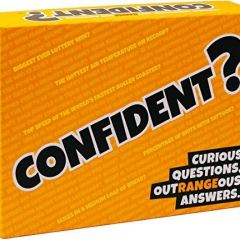 CONFIDENT? Party Board Game | Trivia with a Twist | You All Play at Once | Answer Questions with a Range | Anyone Can Win | Great for Conversation | For Families or Adult Games Night