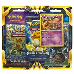 Pokemon TCG: Giratina Blister Pack Containing 3 Booster Packs And Featuring Foil Giratina And A Special Collector's Coin