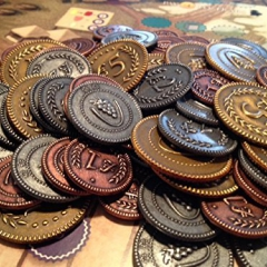 Metal Lira Coins for Viticulture and Tuscany