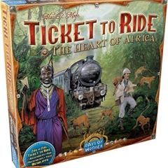 Ticket to Ride Map Collection Board Game: The Heart of Africa, Volume #3 by Days of Wonder