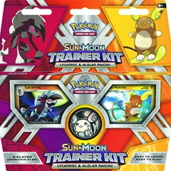 "Pokemon POK81210 ""TCG Lycanroc and Alolan Raichu"" Sun/Moon Trainer Kit"