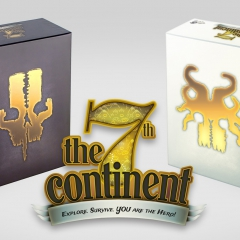 The 7th Continent board game plus expansion  game What Goes Up Must Come Down